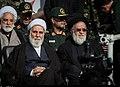 Aliakbar Natiq Nouri & Mohseni Ejeie in Funeral of Mohsen Hojaji in Tehran 01 (2).jpg