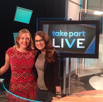 Cara Santa Maria - Take Part Live co-host Cara Santa Maria with guest, Alissa Walker.