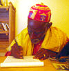 Aliu Amadu Jallo working on the first article for ff wp-1.jpg