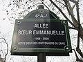 Allée Sœur-Emmanuelle-Plaque de voie.jpg