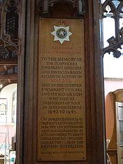 All Saints church, Kingston upon Thames, side chapel commemorating the East Surrey regiment 20