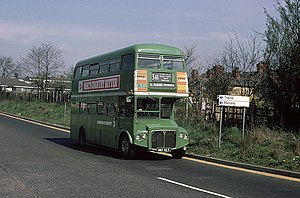 London Country Bus Services - AEC Routemaster in St Albans in May 1976