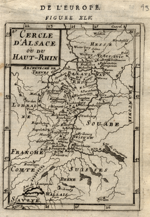 Alain Manesson Mallet - Image: Alsace map mallet vol 4 plate 45