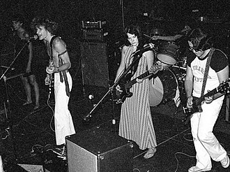 Alternate Learning - Alternate Learning performing in Davis, 1979–1980. Left to right: Lynn Ross, Scott Miller, Carolyn O'Rourke, Jozef Becker (drums), Scott Gallawa.