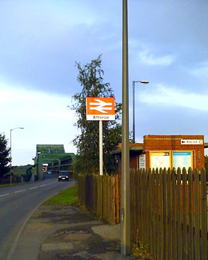 Althorpe railway station - Entrance to the station