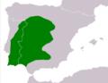 Alytes cisternasii range Map.png