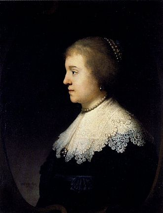 Amalia of Solms-Braunfels - Portrait by Rembrandt van Rijn, 1632