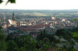 View from Mariahilfberg towards the Amberg Old Town