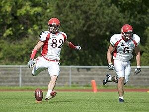 Kickoff in American Football (Lübeck Cougars)
