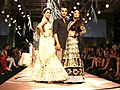 Amrita Arora & Malaika Arora Khan at Vikram Phadnis' show at Lakme Fashion Week 2012 - Day 4.jpg