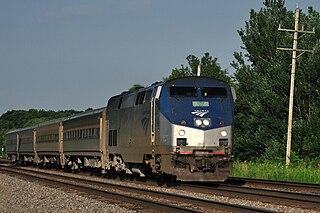 <i>Illinois Zephyr</i> and <i>Carl Sandburg</i> Amtrak train route between Chicago and Quincy, Illinois