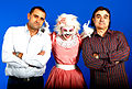 Andres Meseguer y Pedro Pomares ,creativos,con Ary Tikky.JPG