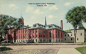Auburn, Maine - Androscoggin County Buildings c. 1912