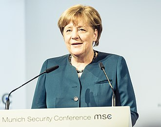 Munich Security Conference - Chancellor Angela Merkel during her speech