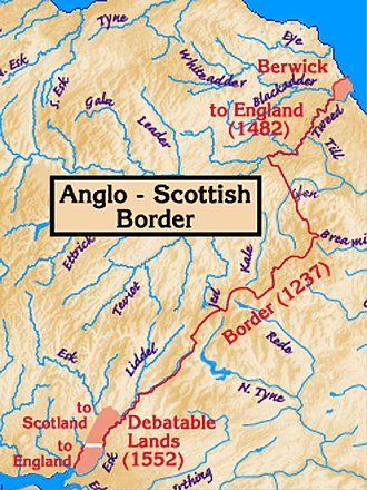 Geography of Scotland in the Middle Ages - Development of the border with England