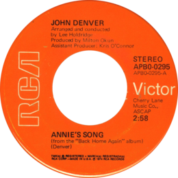 Annie's Song by John Denver US vinyl single Side-A.png