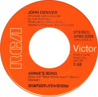 Annies Song 1974 single by John Denver