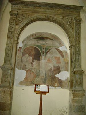 Larino Cathedral - 16th-century fresco of the Annunciation