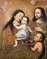 Anonymous Cusco School - Holy Family with Saint John and a Goldfinch - Google Art Project.jpg