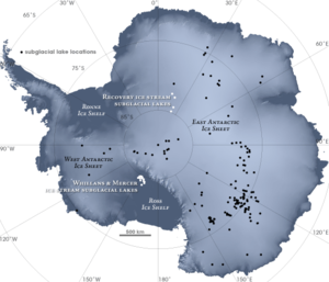 Lake Whillans - Antarctic Subglacial Lakes Map