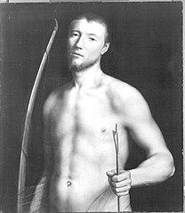 Bildnis eines jungen Mannes als hl. Sebastian (?) (?)
