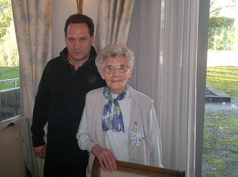 Antoinette Melis ter gelegenheid van haar 105de verjaardag