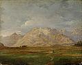 Anton Karinger - Kamniške planine z Mengeškega polja.jpg