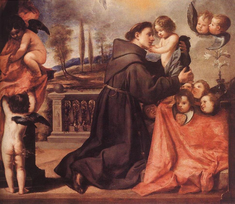 Antonio de Pereda y Salgado - St Anthony of Padua with Christ Child - WGA17167