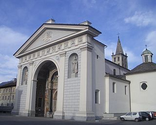 building in Aosta, Italy