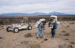 Apollo 15 LRV Irwin Scott geology training in New Mexico.jpg