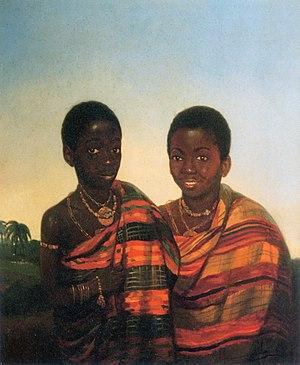 Jacobus Ludovicus Cornet - The Ashanti princes Aquasi Boachi and Quamin Poko, c. 1840