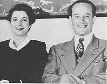 Jacobo Árbenz seated next to his wife María Villanova