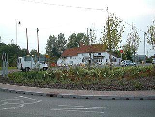 Arborfield Cross village in United Kingdom