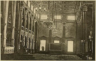 Archdiocese of Manila - Interior of the Throne Room in the Archbishop's Palace as it was during the Spanish colonial period.