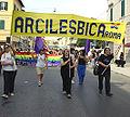 Arcilesbica - Striscione al Gay Pride nazionale di Grosseto (2004).jpg
