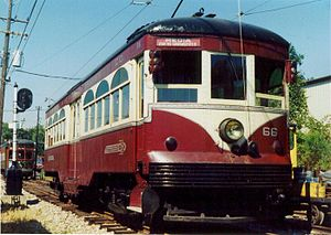 SEPTA Route 101 and 102 - Heavy steel interurban cars like this ran on the Red Arrow until the 1970s.