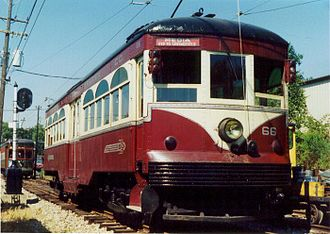 SEPTA Routes 101 and 102 - Heavy steel interurban cars like this ran on the Red Arrow until the 1970s.
