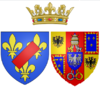 Arms of Maria Teresa Felicitas d'Este as Duchess of Penthièvre.png