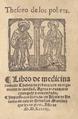 Arnau de Vilanova (1584) Libro de medicina llamado thesoro de pobres con un regimiento de sanidad.png