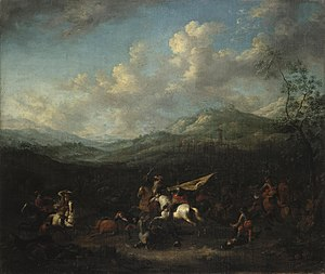 Arnold Frans Rubens - Cavalry battle