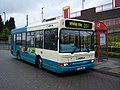 Arriva bus 1726 Dennis Dart MPD Plaxton V726 DNL in Wallsend Newcastle upon Tyne 9 May 2009.jpg
