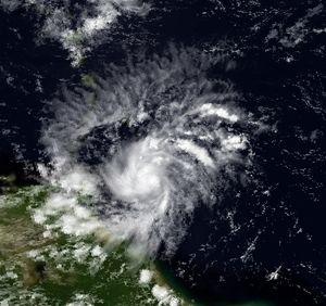 1990 Atlantic hurricane season - Image: Arthur 24 July 1990