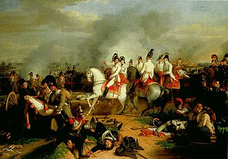 Battle of Aspern-Essling -  Painting by Johann Peter Krafft.