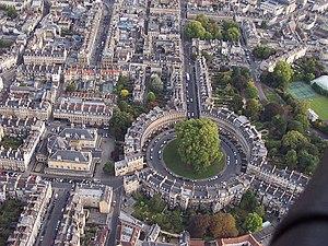 Circus (Bath) - Aerial view