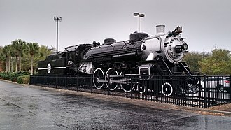 National Register of Historic Places listings in Duval County, Florida - Image: Atlantic Coast Line Locomotive No.1504