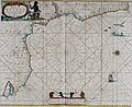 Atlas maritimus, or A book of charts - Describeing the sea coasts capes headlands sands shoals rocks and dangers the bayes roads harbors rivers and ports, in most of the knowne parts of the world. (14751107764).jpg