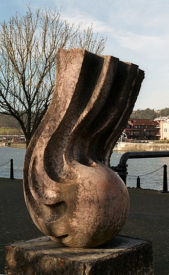 John Atyeo - Atyeo (1986) by Stephen Cox, on the waterfront in Bristol, named for John Atyeo, Bristol City and England forward, who was the sculptor's boyhood hero.