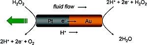 Self-propelled particles - Image: Au Ptnanomotor