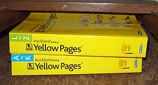 Yellow pages Telephone directory of businesses by category