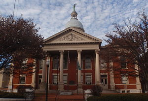 National Register of Historic Places listings in Staunton, Virginia - Image: Augusta County Courthouse